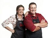 ANNIE and Jason will head back home to their Hunter Valley farm after losing tonight's sudden death cook-off to Carly and Tresne.