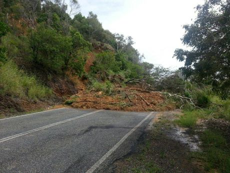 Landslide at Statue Bay on Scenic Hwy