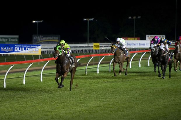 Toowoomba gelding Kempelly and jockey Nozi Tomizawa skip to an impressive victory in last night's Toowoomba BMW Open Handicap (1200m) at Clifford Park.
