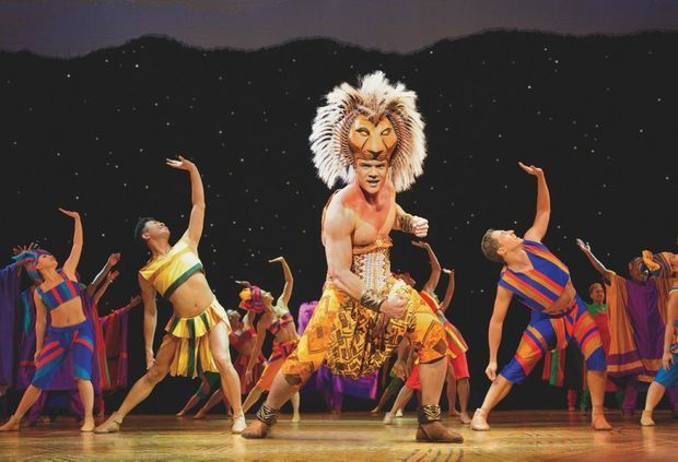 Nick Afoa as Simba in The Lion King.