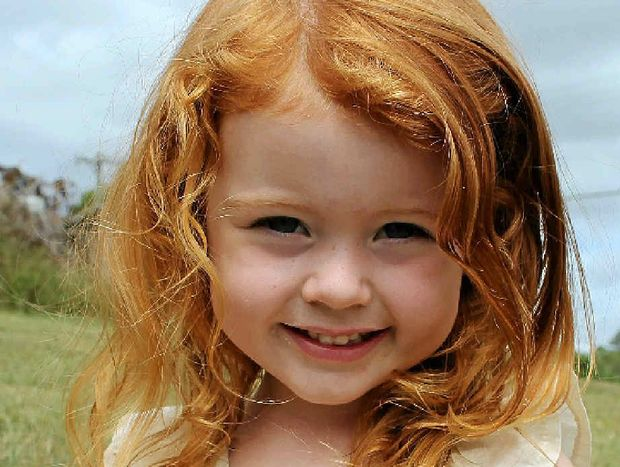 SWEET GIRL: Lyla Rose Graham, 3 of Modanville, has been announced as a winner in the 2014 Bonds Baby Search competition.