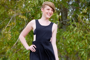 Model Amy Brosnahan wants to show other transgenders that they can do anything. Photo / Sarah Ivey