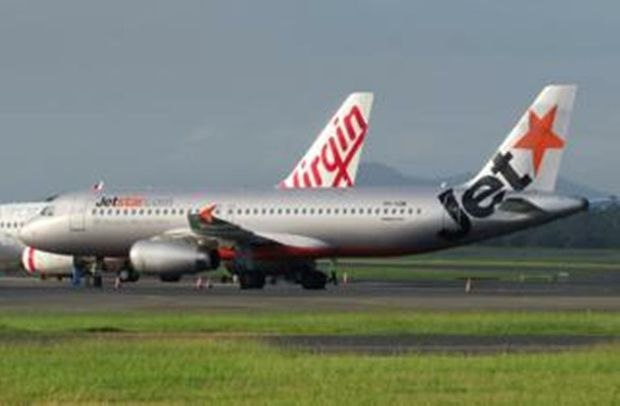 A Jetstar plane had to make an emergency landing at Rockhampton Airport last night. A reader submitted this photograph of the plane at the airport this morning.