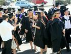 Getting ready at the Southern Cross University Graduation at Coffs Harbour. Photo: Leigh Jensen / Coffs Coast Advocate