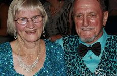 HAVING A BALL: Joanne and Dennis Thomson (left), Col and Betty Greller (centre) and Noel and Margaret Wilson (right) at the Civic Centre for the April Showers Ball held during the weekend.