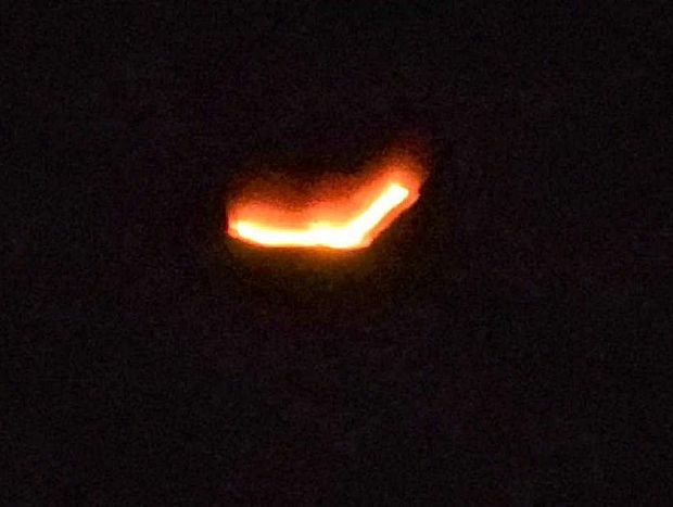 MYSTERY: A contributed photo of a UFO taken over the Caloundra/Pelican Waters area looking north.