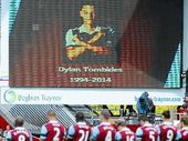 PLAYERS and fans paid an emotional tribute to Dylan Tombides yesterday, ahead of the London derby between West Ham United and Crystal Palace at Upton Park.