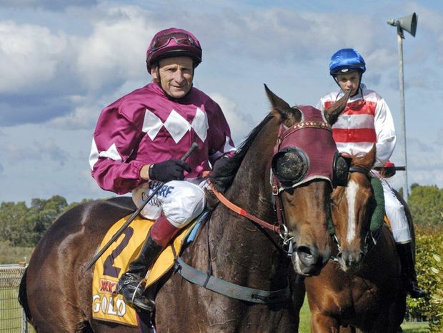 All smiles for jockey Cyril Small after claiming a victory with Dubai Gee Eye at the latest Ballina Jockey Club meeting.