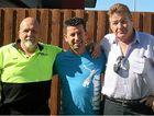 "GREAT WIN: Steve ""Skull"" Newton, Steve Georges and TWU Organiser Ray Shortill."