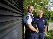 WHEN Peter Bridger and Paul Coates were called upon to chase a pair of armed robbers on the run, they knew they were about to put themselves in harm's way.