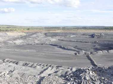 A New Acland coal mine pit.