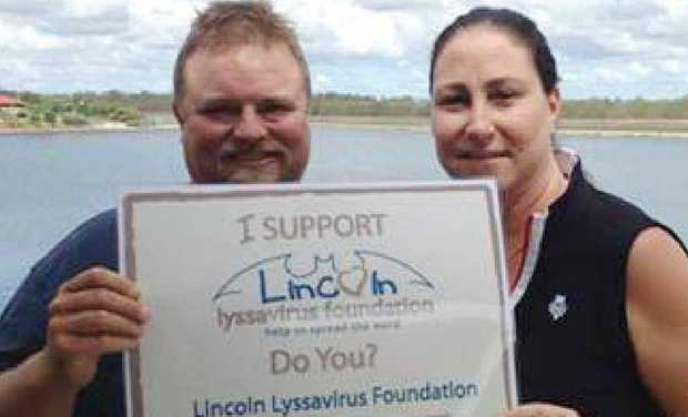 SUPPORT FOR LINCOLN: Colin Boucher and Michelle Flynn are raising awareness about Lyysavirus through a foundation set up in memory of Lincoln Flynn.