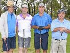 ABOVE, GOLF DAY: Graham Olsen, Chris Hall, Al Thornton and Craig Locke were part of a field of 99 in the Akooramak Golf Day.