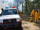 Firies fight to contain blaze north of city