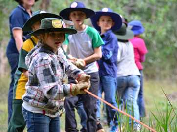 South Burnett students have been working at the Barambah Environmental Education Centre to help with environmental restoration at Wrattens Conservation Park.