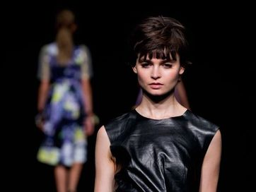 Toowoomba's Hayley Archibald launches her fashion line Duvenage at the Mercedes Benz Fashion Week in Melbourne.