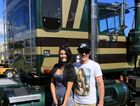 Brittany and Josh a young couple visiting the show for the day and admiring the trucks on display at the Heritage Truck Show at Rocklea May 17. Photo Keith Hawley / Big Rigs