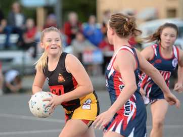 Action from the Rockhampton Secondary Schools Netball Grand Finals at Jardine Park.