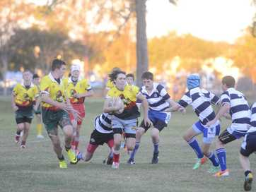 All the action from Wednesday night's The Daily Examiner Shield under-14s games. Maclean High def McAuley Catholic College 44-10 and South Grafton High def Grafton High 44-12.