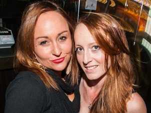 Jessica Smith and Emma Barnes at the Racehorse Hotel for the End Women's Cancer Fundraiser event on Friday night. Photo: Nick O'Sullivan / The Queensland Times