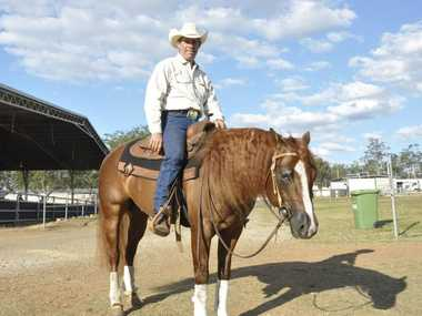 LITTLE THINGS: Ranked 13th in the world for reining, Warren Backhouse says the style of riding is all about mastering the little things before you get to the big moves. Pictured here on three-year-old stallion Lil Nuit All. Southern Queensland Reining Horse Assocation. Photo Tara Miko / The Chronicle