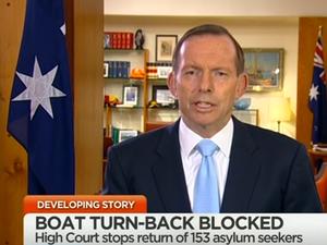 Prime Minister Tony Abbott on Channel 7's Sunrise program, after the High Court issued an injunction against returning Tamil asylum seekers to Sri Lanka