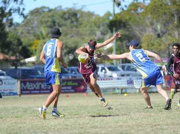 Day 1 of the 2014 Junior State Touch Carnival in Hervey Bay saw plenty of action on the field under perfect weather conditions.