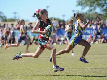 The 2014 Junior State Touch Carnival in Hervey Bay - plenty of action in the lunch time break on day 2 when teams competed in the sprint challenge.