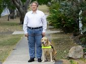 WHEN his guide dog Mickey is not by his side, visually impaired Ipswich resident Kelvin Steinhardt can find himself in trouble.