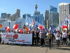 NOT ON: More than 150 truck drivers and their families march across Sydney in a determined protest against what they see as lethal economic pressures being placed on truck drivers by retail giant Coles.