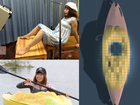 MEGUMI Igarashi - or the 'good-for-nothing kid' - crowdfunded the kayak based on a 3D scan of her genitalia and sent the file to backers as a thank you.