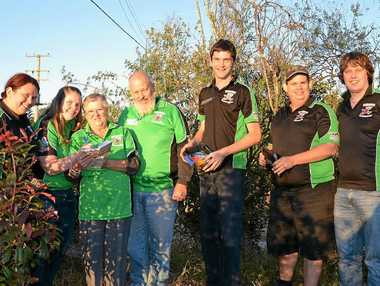 CACHED UP: Keen geocachers Annette Mayfield, Kaibrya Cooke, Christine and Ian Robins, Thomas Krafft, Geoff Tynan and Gary Flynn.
