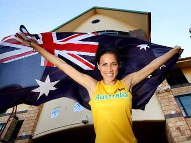 Ready to fly the flag is Hannah Joye selected in the Australian Commonwealth Games Team for High Jump. Photo Inga Williams / The Satellite