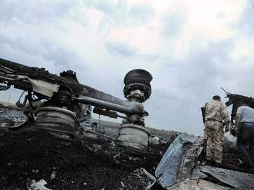 The wreckage and reaction to flight MH17 being shot down over the Ukraine.