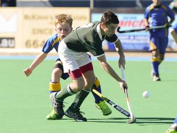 Some of the action from the first day of the Hockey NSW under-13 Boys Field State Championships at Grafton Hockey Complex.