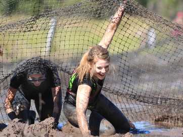 Getting wet, cold and muddy was never so much fun than at the Obstacles Gone Mad course at Barmaryee on Saturday.