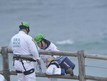 Images of the search and rescue operation at Cape Byron at the weekend of the search for a 19-year-old Irish surfer who disappeared after being caught in a rip at Cozy Corner.