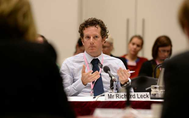 WWFÕs Campaign Director, Richard Leck answers questions from the Environment and Communications References Committee at the Queensland Parliament in Brisbane, Monday, July 21, 2014. Senators from across Australia will gather in Brisbane to hear about the Australian government and Queensland government's management of the Great Barrier Reef.