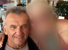 HAPPIER TIMES: George Gerbic, and his partner (blurred out for legal reasons) who has been charged with his murder.