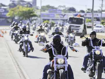 Harley Davidson riders rode into Gladstone on Sunday for the Gladstone Harley Owners Group's Roll the Dice fundraiser.