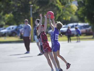 Images of the junior netball action at Lismore on July 20, 2014.