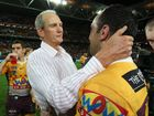 CONFIDENT RETURN: Wayne Bennett celebrates with the Broncos during his former spell with the club.