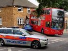 A DOUBLE decker bus rolled backwards and smashed into a family home in London.