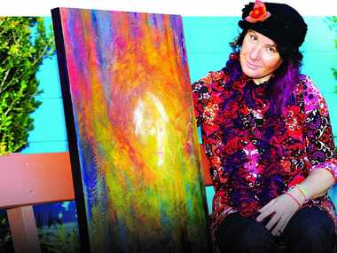 DREAM REALISED: Artist Irene Roberts will join fellow artist Kevin Tierney to present Artrageous at Woolgoolga Art Gallery. Photo: Leigh Jensen