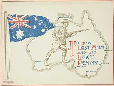 Propaganda postcard used during the First World War.