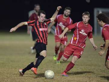 Local soccer, Caloundra v's NYU at Meridan Plains