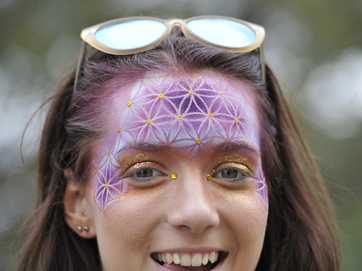 Face paint and art is the new trend this year.