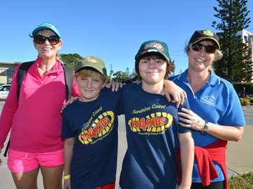 Sunshine Coast K's 4 Kids Supporting School Chappies charity fundraiser at Golden Beach.