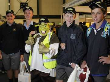 Jobseekers and school students attend The Chronicle Careers Expo 2014.