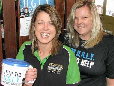 APPEAL: Allora's Railway Hotel bar attendants Gillian Morris and Teish Erhardt are fundraising over the next seven weeks for the Leukaemia Foundation through their involvement in U.G.L.Y. Bartender of the Year.